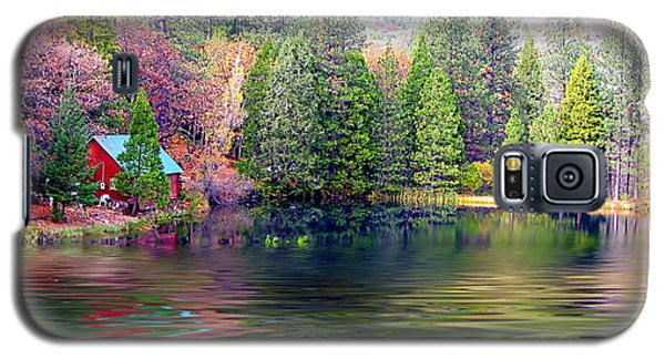 Cabin On The Lake Galaxy S5 Case
