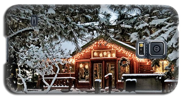 Cabin With Christmas Lights Galaxy S5 Case