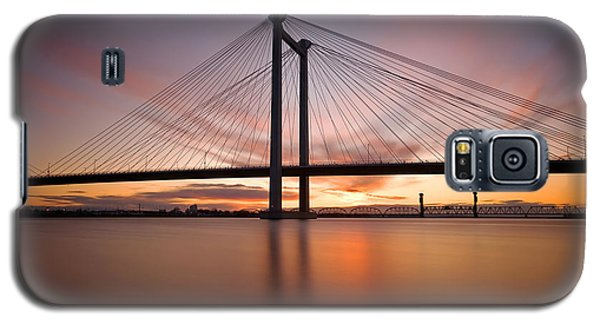 Galaxy S5 Case featuring the photograph Cable Bridge by Ronda Kimbrow