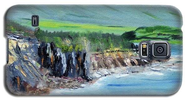 Galaxy S5 Case featuring the painting Cabot Trail Coastline by Michael Daniels