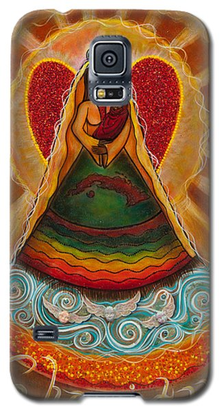 Galaxy S5 Case featuring the painting Cachita Madonna by Deborha Kerr
