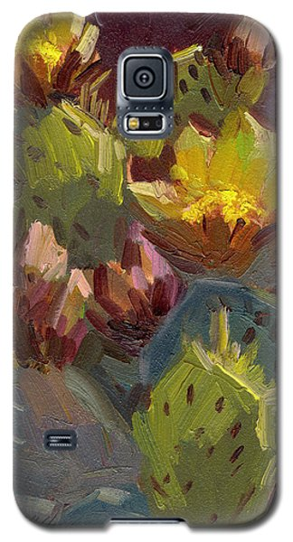 Cactus In Bloom 1 Galaxy S5 Case by Diane McClary