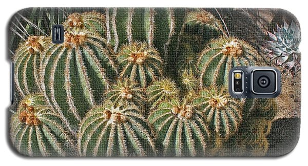 Galaxy S5 Case featuring the photograph Cactus In The Garden by Tom Janca