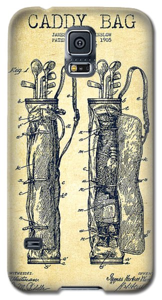 Caddy Bag Patent Drawing From 1905 - Vintage Galaxy S5 Case