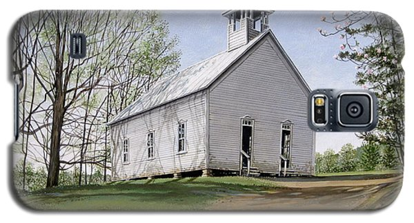 Galaxy S5 Case featuring the painting Cades Cove Methodist Church by Bob  George