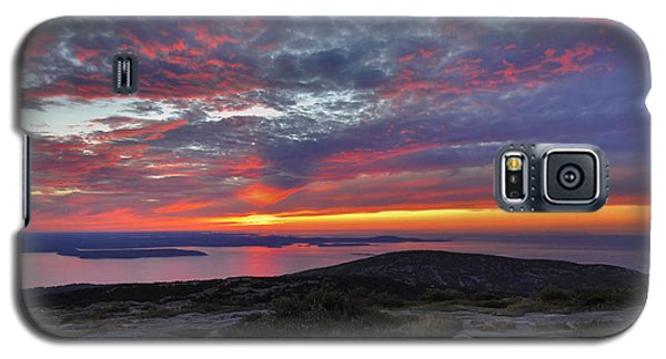 Cadillac Mountain Sunrise 2 Galaxy S5 Case by Stephen  Vecchiotti
