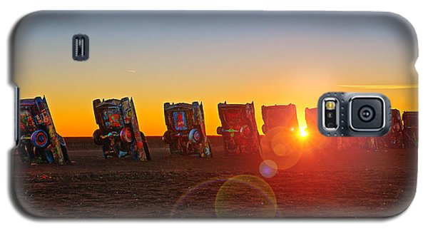 Cadillac Ranch Sunset Galaxy S5 Case