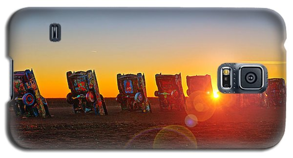 Cadillac Ranch Sunset Galaxy S5 Case