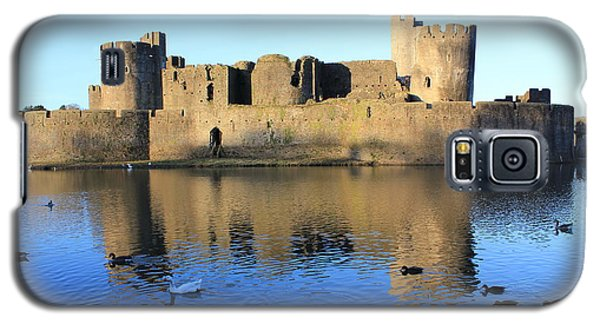 Caerphilly Castle Galaxy S5 Case by Vicki Spindler
