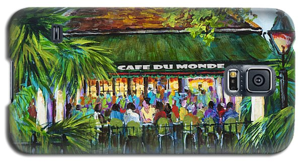 Cafe Du Monde Morning Galaxy S5 Case by Dianne Parks