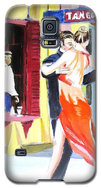 Galaxy S5 Case featuring the painting Cafe Tango by Judy Kay