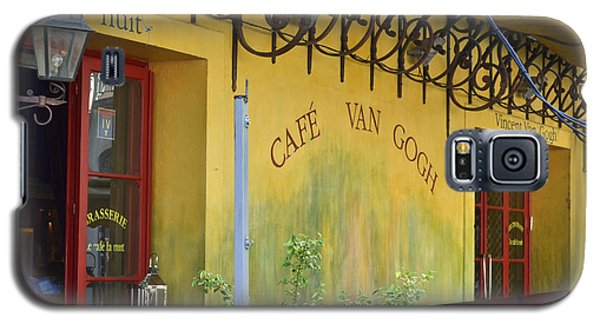 Galaxy S5 Case featuring the photograph Cafe Van Gogh by Allen Sheffield