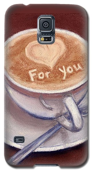 Caffe Latte Galaxy S5 Case by Anastasiya Malakhova