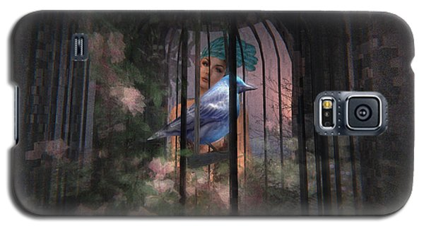 Galaxy S5 Case featuring the digital art Caged Bird by Kylie Sabra