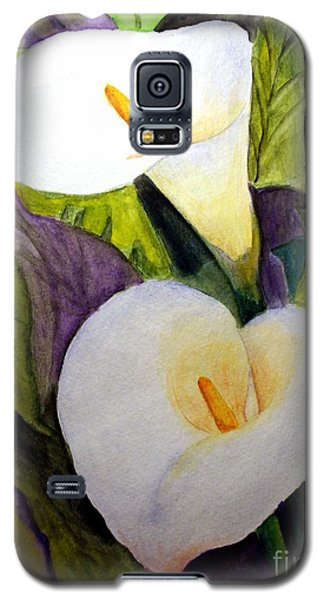 Galaxy S5 Case featuring the painting Cala Lily by Carol Grimes