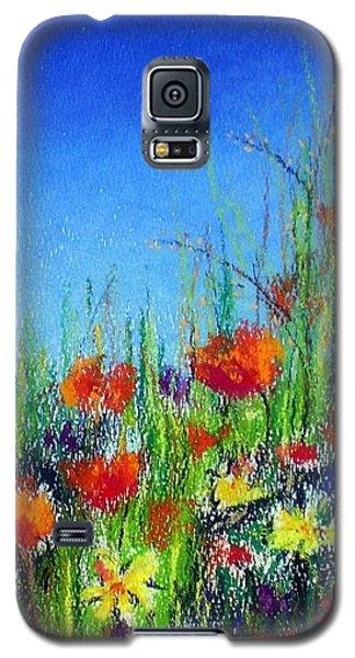 Galaxy S5 Case featuring the pastel California Dreaming by Jodie Marie Anne Richardson Traugott          aka jm-ART
