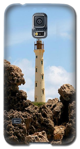 California Lighthouse Aruba Galaxy S5 Case by DJ Florek