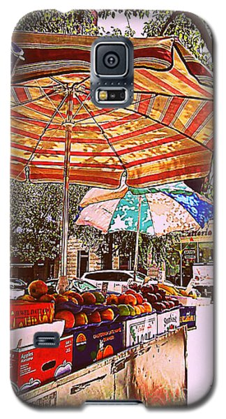 Galaxy S5 Case featuring the photograph California Oranges by Miriam Danar