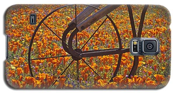 California Poppy Field Galaxy S5 Case