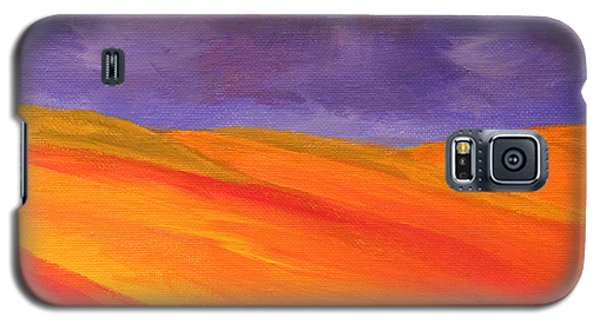Galaxy S5 Case featuring the painting California Poppy Hills by Janet Greer Sammons