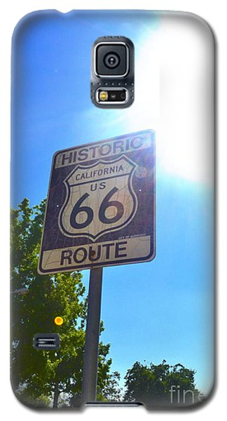Galaxy S5 Case featuring the photograph California Route 66 by Utopia Concepts