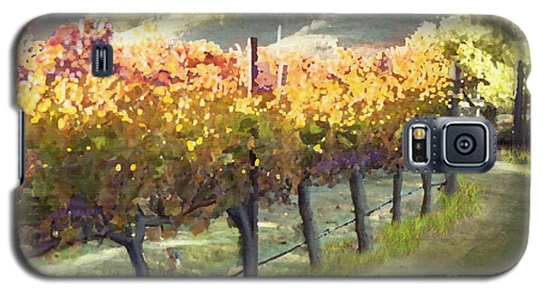California Vineyard Series Morning In The Vineyard Galaxy S5 Case by Artist and Photographer Laura Wrede
