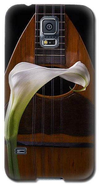 Lily Galaxy S5 Case - Calla Lily And Mandolin by Garry Gay