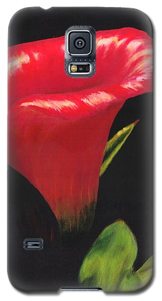 Galaxy S5 Case featuring the painting Calla Lily by Jesslyn Fraser