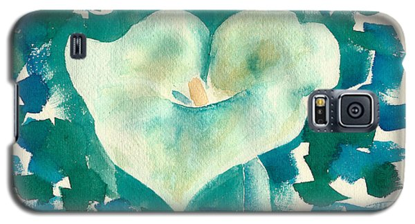 Calla Lily Watercolor Galaxy S5 Case by Frank Bright