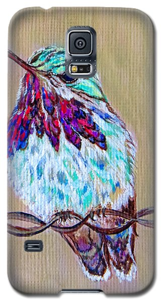 Galaxy S5 Case featuring the painting Calliope On The Fence by Ella Kaye Dickey