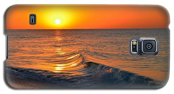 Calm And Clear Sunrise On Navarre Beach With Small Perfect Wave Galaxy S5 Case by Jeff at JSJ Photography