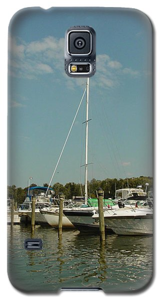Galaxy S5 Case featuring the photograph Calm Day At The Marina by Dorothy Maier