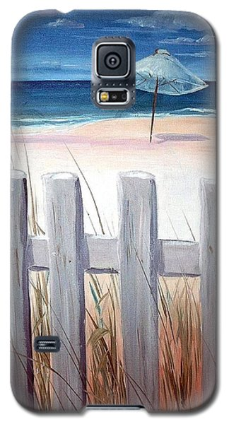 Galaxy S5 Case featuring the painting Calm Day At The Seashore by Bernadette Krupa