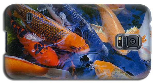 Galaxy S5 Case featuring the photograph Calm Koi Fish by Jerry Cowart