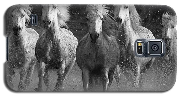 Camargue Horses Running Galaxy S5 Case by Carol Walker
