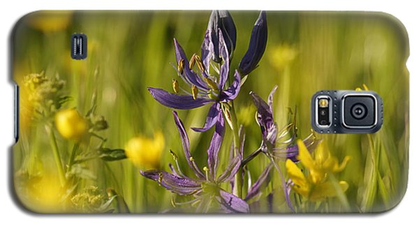 Galaxy S5 Case featuring the photograph Camas And Wild Flowers by Inge Riis McDonald