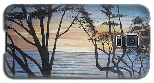 Cambria Cypress Trees At Sunset Galaxy S5 Case by Ian Donley