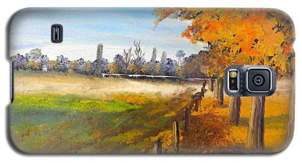 Galaxy S5 Case featuring the painting Camden Farm by Pamela  Meredith