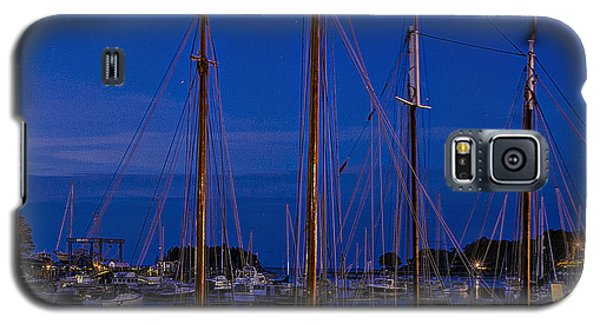 Galaxy S5 Case featuring the photograph Camden Harbor Maine At 4am by Marty Saccone