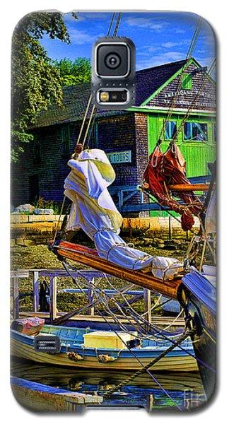 Camden Maine Seaport Galaxy S5 Case by Linda Olsen