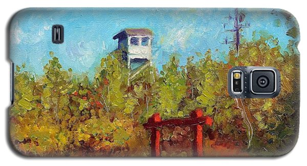 Galaxy S5 Case featuring the painting Camel Top Fire Tower by Jason Williamson