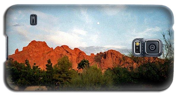 Camelback Mountain And Moon Galaxy S5 Case