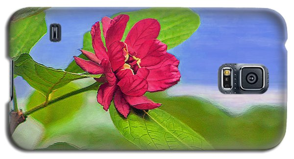 Galaxy S5 Case featuring the digital art Camellia by Marion Johnson