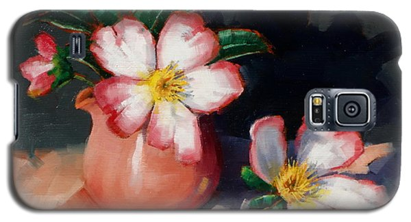 Camellias And Chinese Tea Jug II Galaxy S5 Case