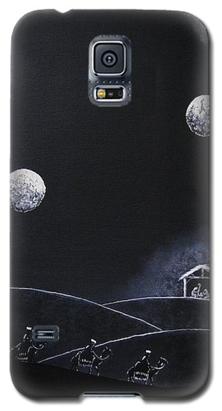 Galaxy S5 Case featuring the painting Camino A Belen by Edwin Alverio