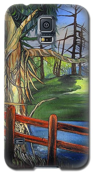 Galaxy S5 Case featuring the painting Camino Real Park by Mary Ellen Frazee