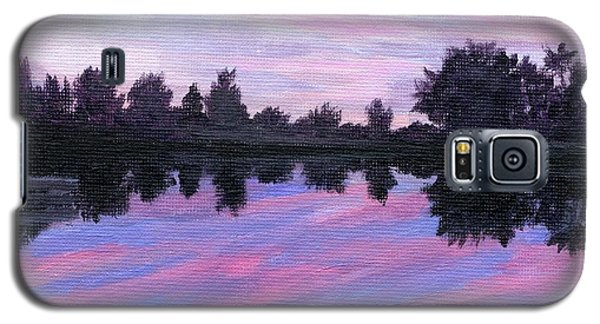 Galaxy S5 Case featuring the painting Camp Sunset by Lynne Reichhart