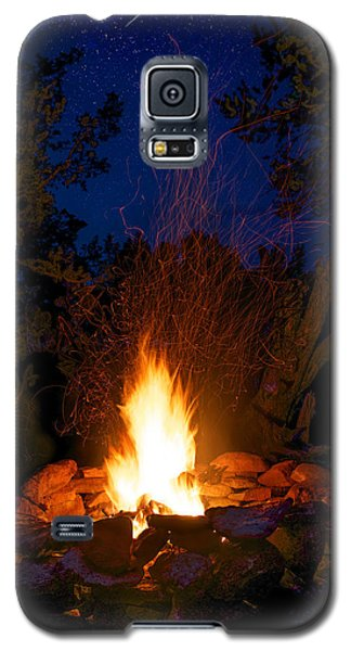 Campfire Under The Stars Galaxy S5 Case