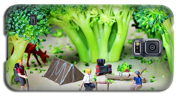 Camping Among Broccoli Jungles Miniature Art Galaxy S5 Case by Paul Ge