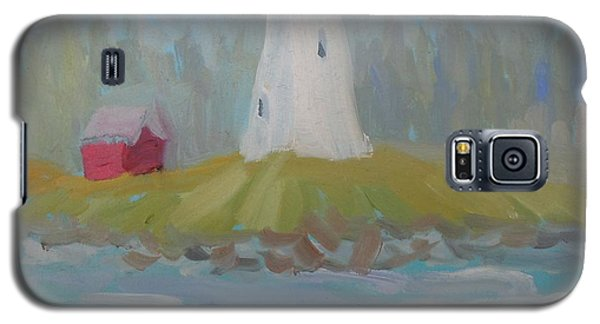 Galaxy S5 Case featuring the painting Campobello Lighthouse by Francine Frank